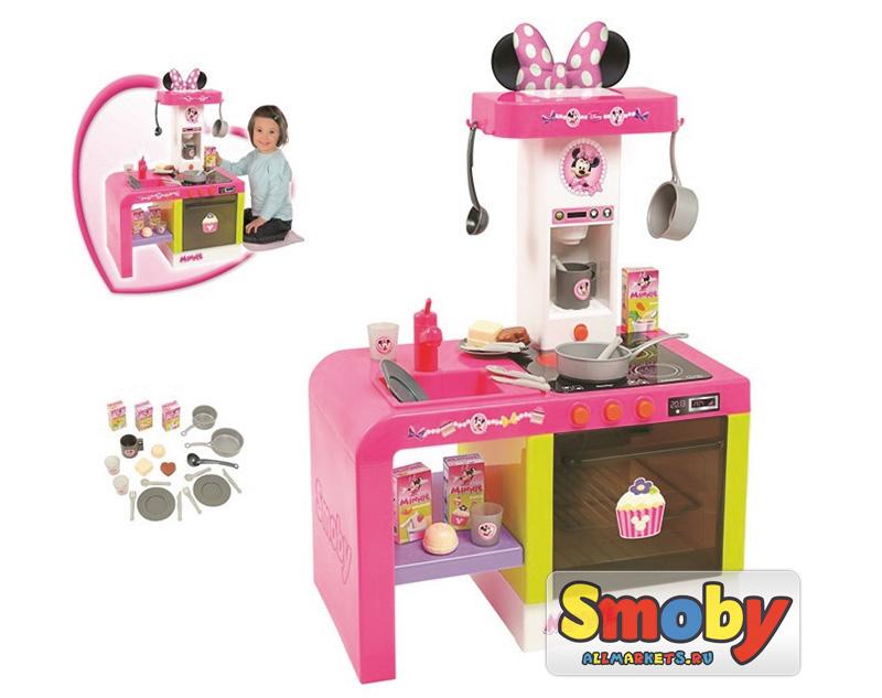 Smoby кухня Cheftronic Minnie 24197 в официальном магазине Smoby